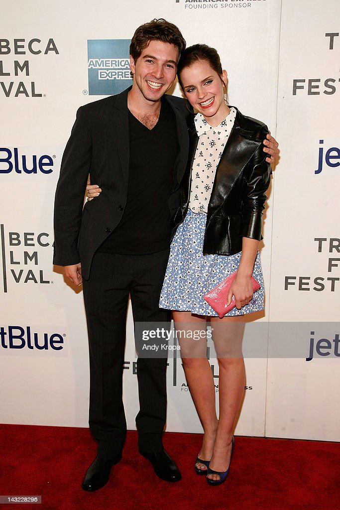 Actors Roberto Aguire and Emma Watson attend 'Struck By Lightning' Premiere during the 2012 Tribeca Film Festival at the Borough of Manhattan Community College on April 21, 2012 in New York City.