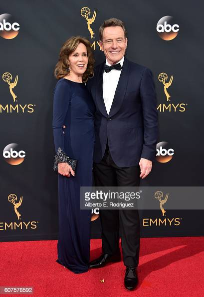 Actors Robin Dearden and Bryan Cranston attend the 68th Annual Primetime Emmy Awards at Microsoft Theater on September 18 2016 in Los Angeles...