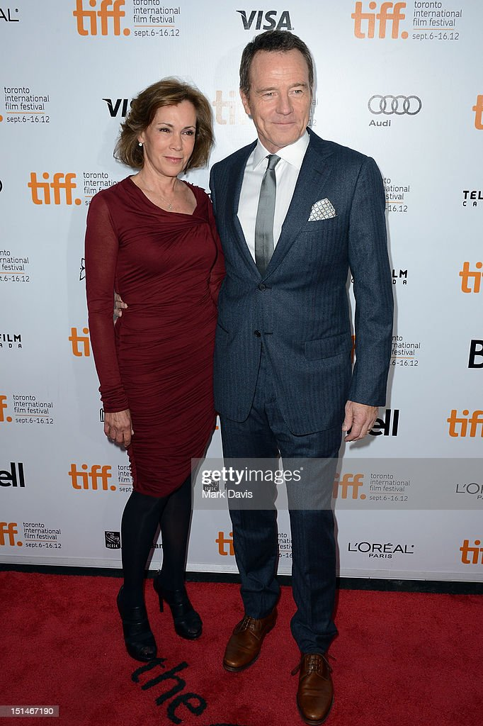 Actors Robin Dearden (L) and <a gi-track='captionPersonalityLinkClicked' href=/galleries/search?phrase=Bryan+Cranston&family=editorial&specificpeople=217768 ng-click='$event.stopPropagation()'>Bryan Cranston</a> attend the 'Argo' premiere during the 2012 Toronto International Film Festival at Roy Thomson Hall on September 7, 2012 in Toronto, Canada.