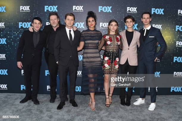 Actors Robin Lord Taylor Donal Logue Ben McKenzie Morena Baccarin Camren Baccandova David Mazouz and Cory Michael Smith attend the FOX Upfront on May...