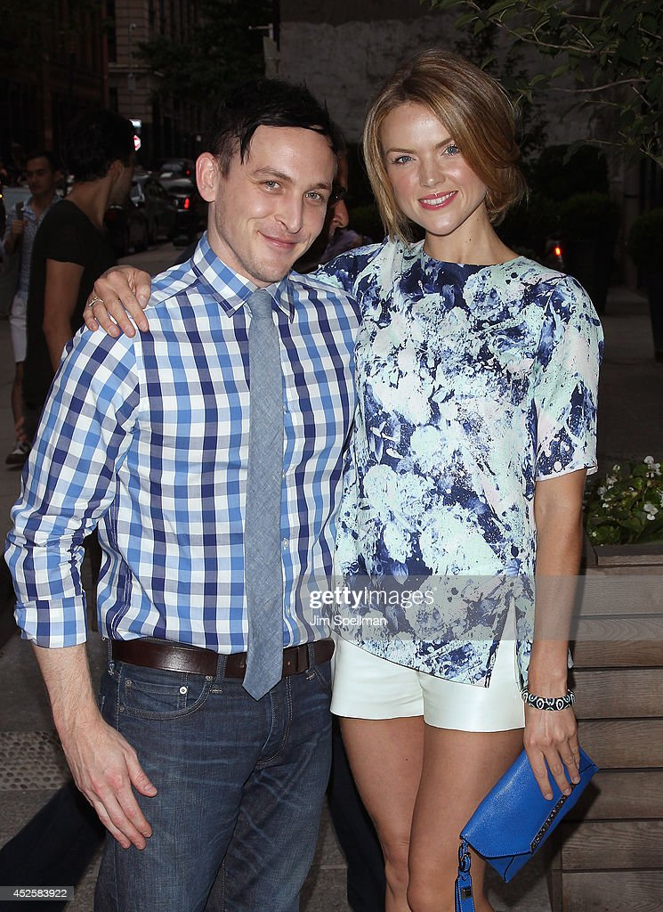 Actors Robin Taylor and Erin Richards attend the Cinema Society Screening Of 'The Honorable Woman' at Crosby Street Hotel on July 23, 2014 in New York City.