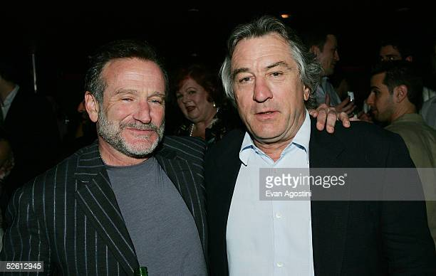 Actors Robin Williams and Robert DeNiro attend the 'House Of D' film premiere after party at AER April 10 2005 in New York City