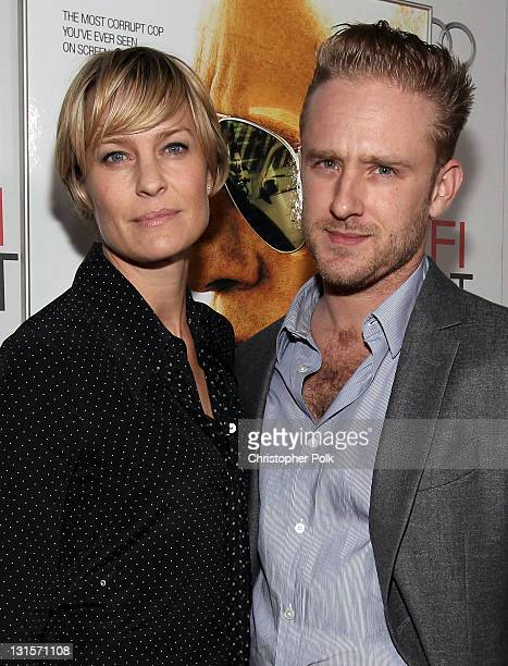 Actors Robin Wright and Ben Foster arrive at the 'Rampart' special screening during AFI FEST 2011 presented by Audi at Grauman's Chinese Theatre on...