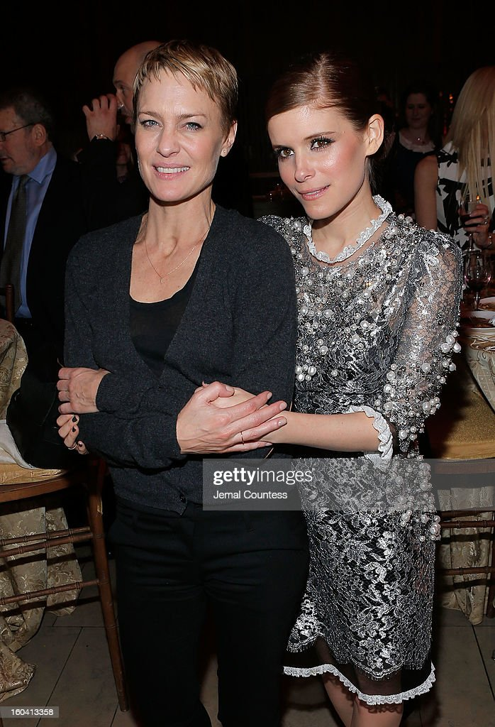 Actors <a gi-track='captionPersonalityLinkClicked' href=/galleries/search?phrase=Robin+Wright&family=editorial&specificpeople=207147 ng-click='$event.stopPropagation()'>Robin Wright</a> and <a gi-track='captionPersonalityLinkClicked' href=/galleries/search?phrase=Kate+Mara&family=editorial&specificpeople=544680 ng-click='$event.stopPropagation()'>Kate Mara</a> attend Netflix's 'House Of Cards' New York Premiere After Party at Alice Tully Hall on January 30, 2013 in New York City.