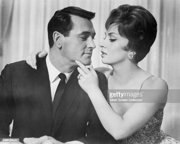 Actors Rock Hudson as Robert L Talbot and Gina Lollobrigida as Lisa Helena Fellini in the romantic comedy 'Come September' 1961
