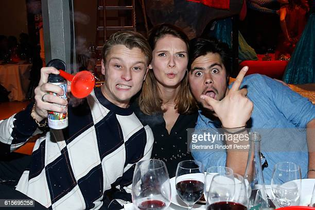 Actors Rod Paradot Josephine Japy and Mathias Pardo attend the Dinner at Galerie Azzedine Alaia with a performance of the Contemporary Artist Mike...