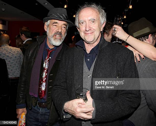 Actors Roger LloydPack and Jonathan Pryce attend the Press Night performance of La Soiree Christmas At The Roundhouse a risque variety show featuring...