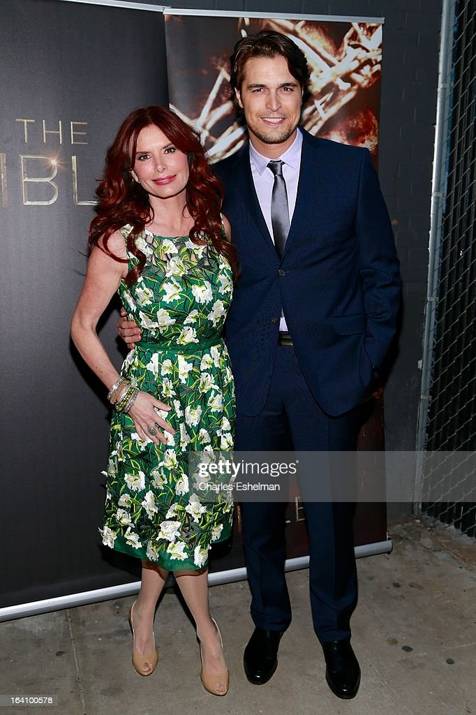 Actors <a gi-track='captionPersonalityLinkClicked' href=/galleries/search?phrase=Roma+Downey&family=editorial&specificpeople=214162 ng-click='$event.stopPropagation()'>Roma Downey</a> and Diogo Morgado attend 'The Bible Experience' Opening Night Gala at The Bible Experience on March 19, 2013 in New York City.