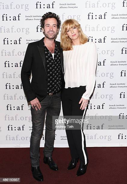 Actors Romain Duris and Kelly Reilly attend the CineSalon sneak preview of 'Chinese Puzzle' at Florence Gould Hall on April 22 2014 in New York City