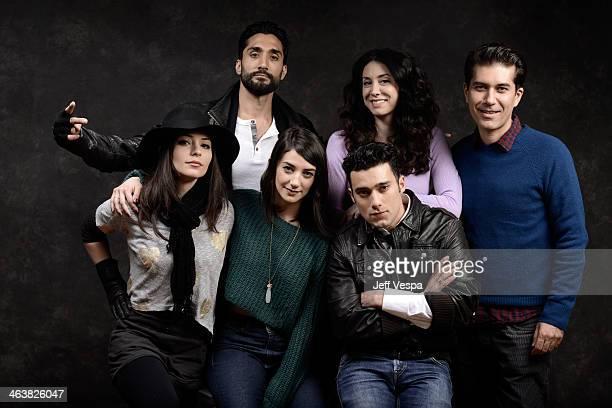Actors Rome Shadanloo Dominic Rains Sheila Vand Arash Marandi Mozhan Marno and Reza Sixo Safai pose for a portrait during the 2014 Sundance Film...