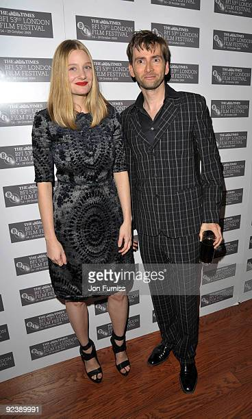 Actors Romola Garai and David Tennant attends the red carpet premiere of Glorious 39 at The Times BFI London Film Festival on October 27 2009 in...