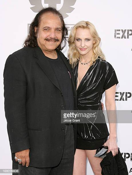Actors Ron Jeremy and Phoebe Dollar arrive at the premiere of 'The Expendables' at Grauman's Chinese Theatre on August 3 2010 in Hollywood California