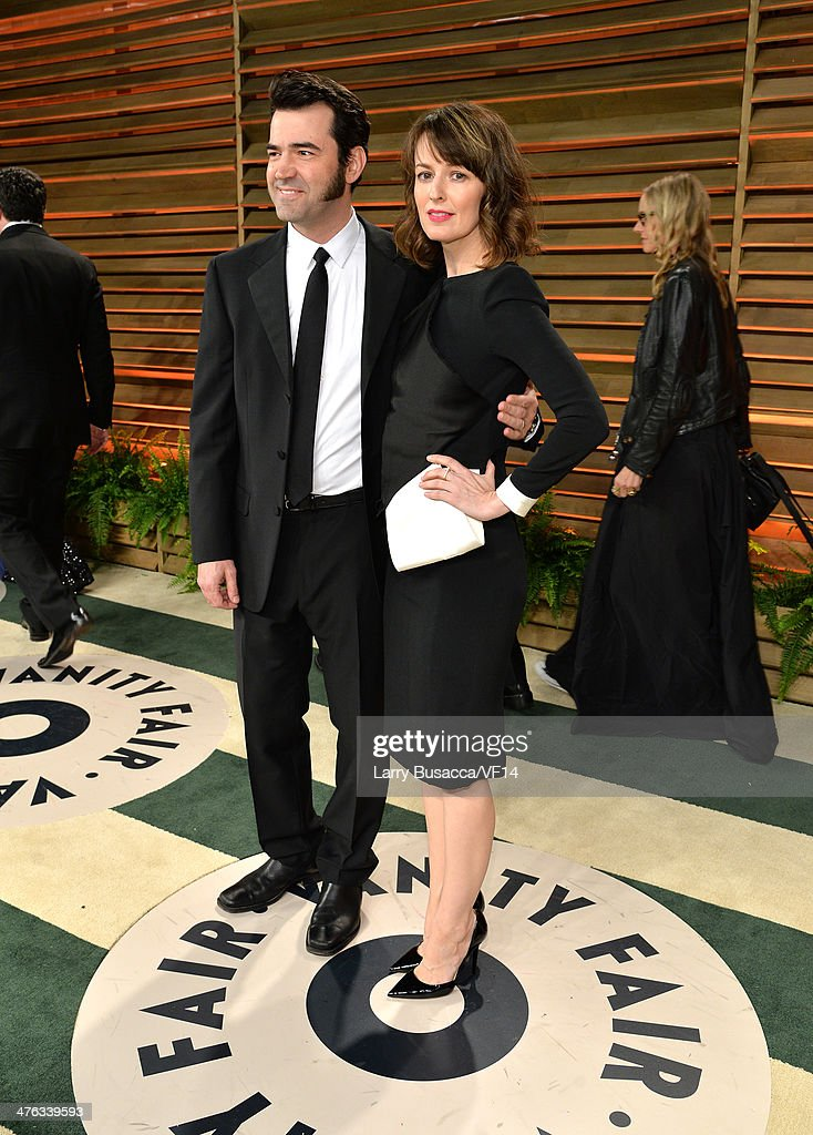 Actors Ron Livingston and Rosemarie DeWitt attend the 2014 Vanity Fair Oscar Party Hosted By Graydon Carter on March 2 2014 in West Hollywood...