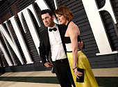 Actors Ron Livingston and Rosemarie DeWitt attend the 2015 Vanity Fair Oscar Party hosted by Graydon Carter at the Wallis Annenberg Center for the...