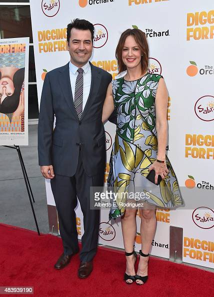 Actors Ron Livingston and Rosemarie DeWitt attend the premiere of 'Digging for Fire' at The ArcLight Cinemas on August 13 2015 in Hollywood California
