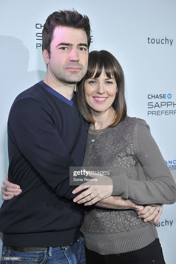 Actors <a gi-track='captionPersonalityLinkClicked' href=/galleries/search?phrase=Ron+Livingston&family=editorial&specificpeople=213878 ng-click='$event.stopPropagation()'>Ron Livingston</a> and <a gi-track='captionPersonalityLinkClicked' href=/galleries/search?phrase=Rosemarie+DeWitt&family=editorial&specificpeople=630212 ng-click='$event.stopPropagation()'>Rosemarie DeWitt</a> attend the Premiere Party presented by Chase Sapphire at The Shop during the 2013 Sundance Film Festival on January 19, 2013 in Park City, Utah.
