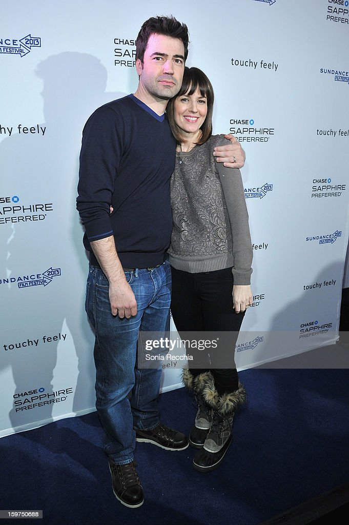 Actors Ron Livingston and Rosemarie DeWitt attend the Premiere Party presented by Chase Sapphire at The Shop during the 2013 Sundance Film Festival...