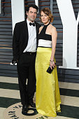 Actors Ron Livingston and Rosemarie DeWitt attends the 2015 Vanity Fair Oscar Party hosted by Graydon Carter at Wallis Annenberg Center for the...