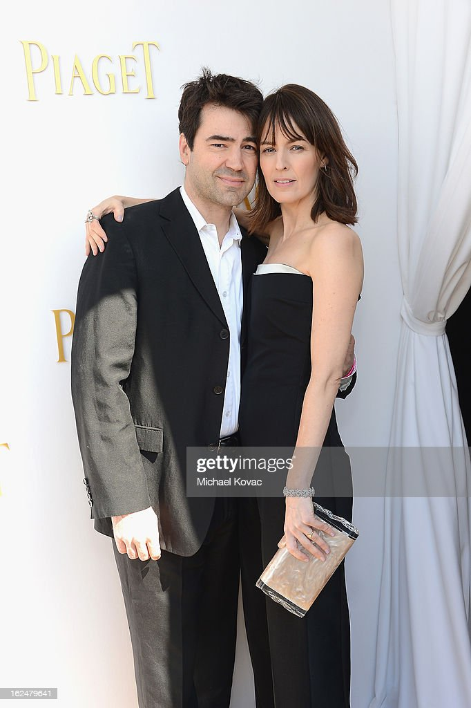 Actors Ron Livingston and Rosemarie DeWitt pose in the Piaget Lounge during The 2013 Film Independent Spirit Awards on February 23, 2013 in Santa Monica, California.