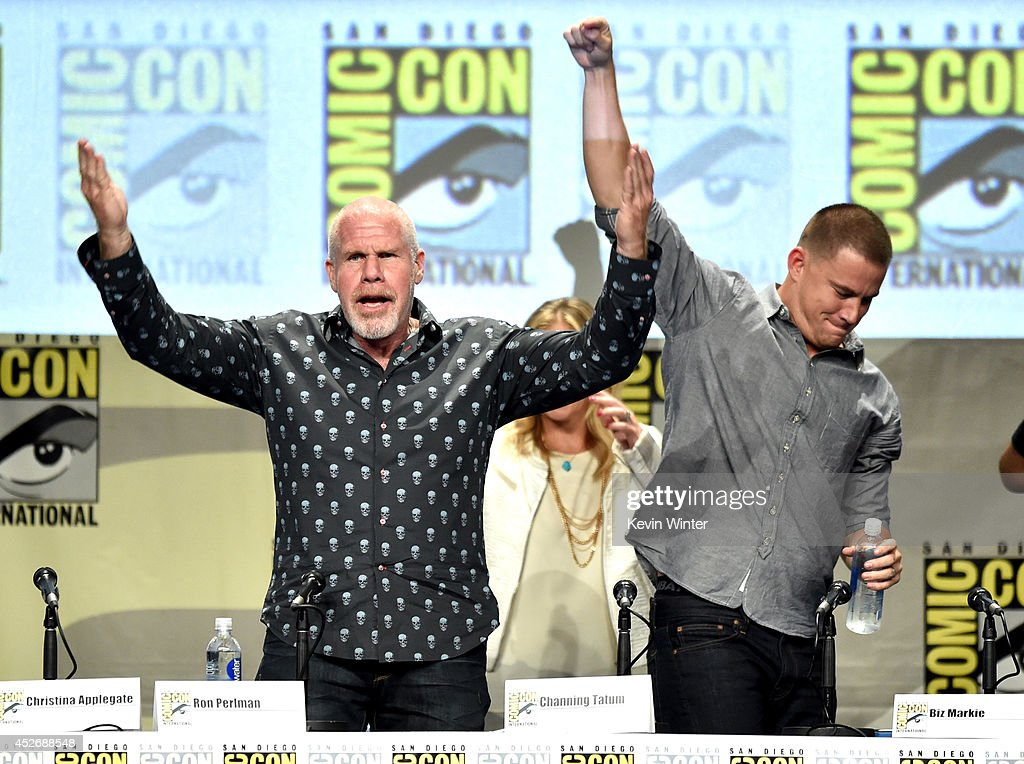Actors Ron Perlman (L) and Channing Tatum attend the 20th Century Fox presentation during Comic-Con International 2014 at San Diego Convention Center on July 25, 2014 in San Diego, California.