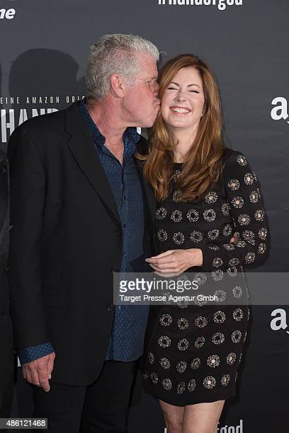 Actors Ron Perlman and Dana Delany attend the German premiere of the TV show 'Hand of God' on August 31 2015 in Berlin Germany