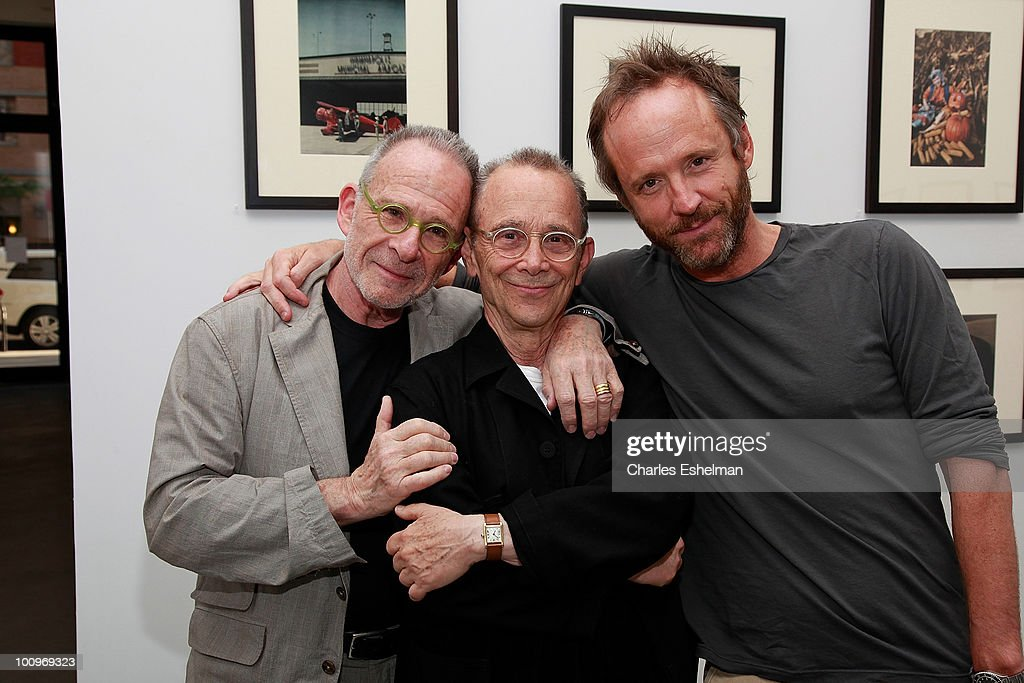 Actors Ron Rifkin, Joel Grey and John Benjamin Hickey attend the photography exhibition opening for '1.3: New Color Images by Joel Grey' at Steven Kasher Gallery on May 25, 2010 in New York City.