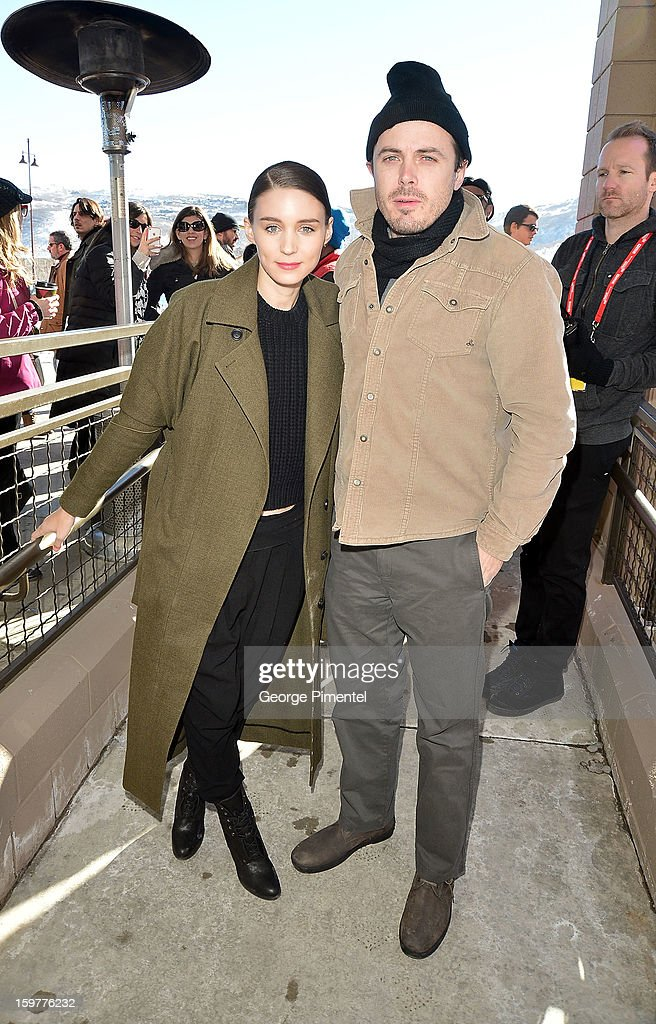 Actors <a gi-track='captionPersonalityLinkClicked' href=/galleries/search?phrase=Rooney+Mara&family=editorial&specificpeople=5669181 ng-click='$event.stopPropagation()'>Rooney Mara</a> and <a gi-track='captionPersonalityLinkClicked' href=/galleries/search?phrase=Casey+Affleck&family=editorial&specificpeople=1539212 ng-click='$event.stopPropagation()'>Casey Affleck</a> attend the 'Aint Them Bodies Saints' premiere at Eccles Center Theatre during the 2013 Sundance Film Festival on January 20, 2013 in Park City, Utah.