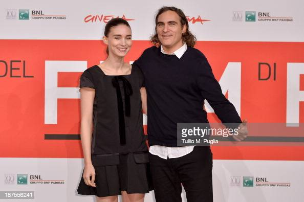 Actors Rooney Mara and Joaquin Phoenix attend the 'Her' Photocall during the 8th Rome Film Festival at the Auditorium Parco Della Musica on November...