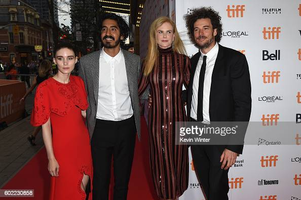 Actors Rooney Mara Dev Patel Nicole Kidman and director Garth Davis attend the 'Lion' premiere during the 2016 Toronto International Film Festival at...