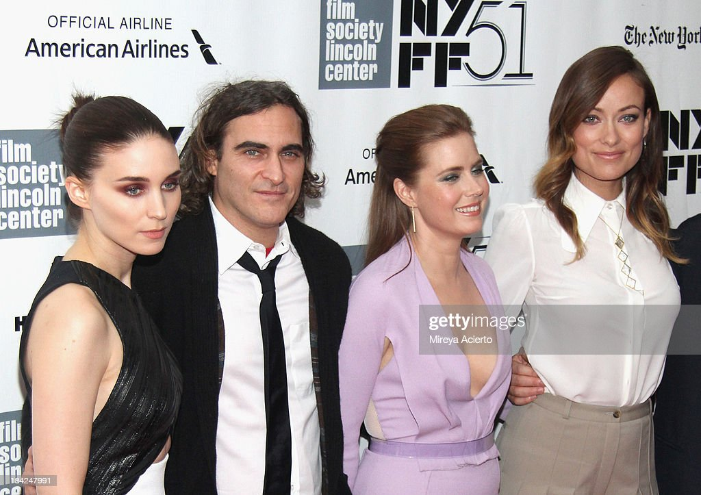 Actors <a gi-track='captionPersonalityLinkClicked' href=/galleries/search?phrase=Rooney+Mara&family=editorial&specificpeople=5669181 ng-click='$event.stopPropagation()'>Rooney Mara</a>, <a gi-track='captionPersonalityLinkClicked' href=/galleries/search?phrase=Joaquin+Phoenix&family=editorial&specificpeople=215391 ng-click='$event.stopPropagation()'>Joaquin Phoenix</a>, <a gi-track='captionPersonalityLinkClicked' href=/galleries/search?phrase=Amy+Adams&family=editorial&specificpeople=213938 ng-click='$event.stopPropagation()'>Amy Adams</a>, and <a gi-track='captionPersonalityLinkClicked' href=/galleries/search?phrase=Olivia+Wilde&family=editorial&specificpeople=235399 ng-click='$event.stopPropagation()'>Olivia Wilde</a> attend the Closing Night Gala Presentation Of 'Her' during the 51st New York Film Festival at Alice Tully Hall at Lincoln Center on October 12, 2013 in New York City.