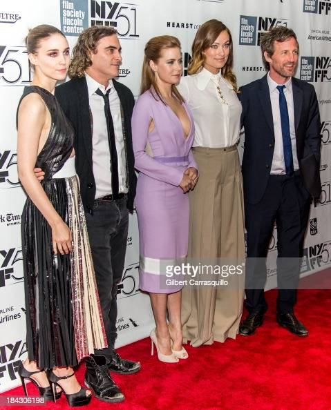 Actors Rooney Mara Joaquin Phoenix Amy Adams Olivia Wilde and director Spike Jonze attend the Closing Night Gala Presentation Of 'Her' during the...