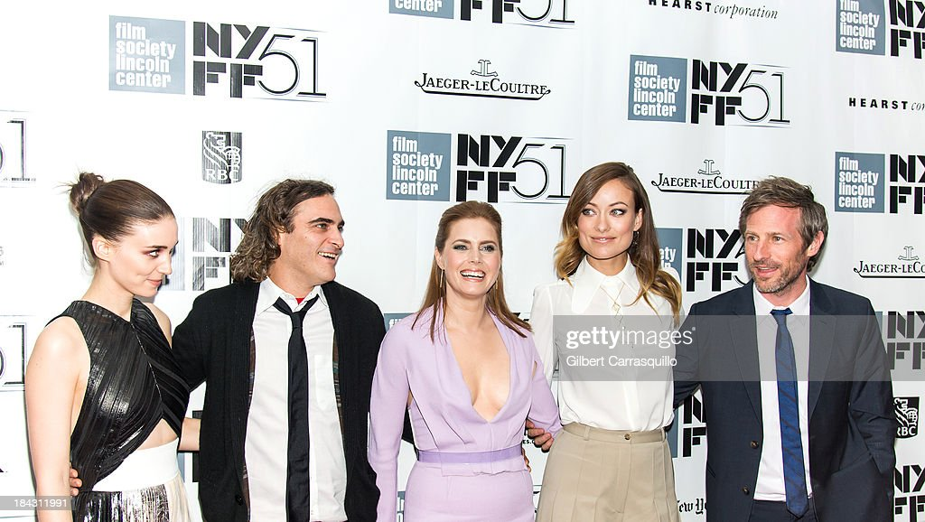 Actors Rooney Mara, Joaquin Phoenix, Amy Adams, Olivia Wilde and director Spike Jonze attend the Closing Night Gala Presentation Of 'Her' during the 51st New York Film Festival at Alice Tully Hall at Lincoln Center on October 12, 2013 in New York City.