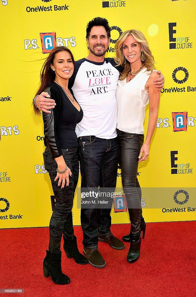Actors Rosa Blasi Don Diamon and Cindy Ambuehl attend the 2013 PS Arts Express Yourself at Barker Hangar on November 17 2013 in Santa Monica...