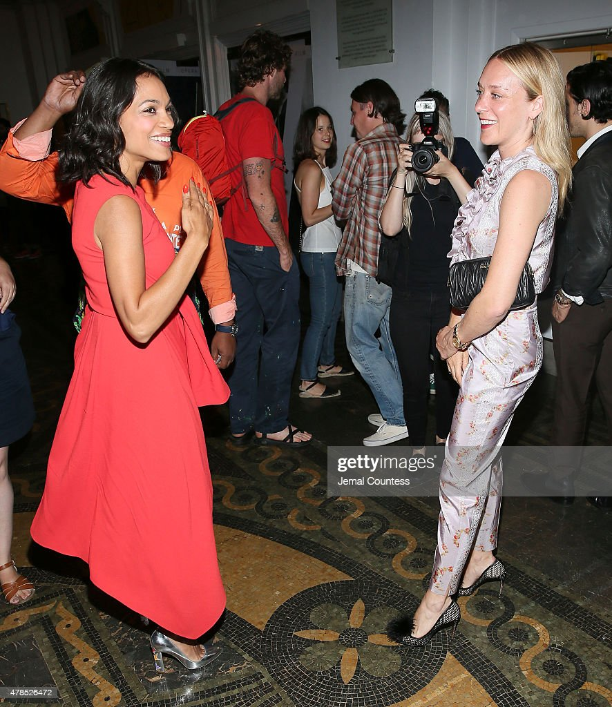 Actors Rosario Dawson and Chloe Sevigny attend the 'Kids' 20th Anniversary Screening at BAMcinemaFest 2015 at BAM Peter Jay Sharp Building on June 25, 2015 in New York City.