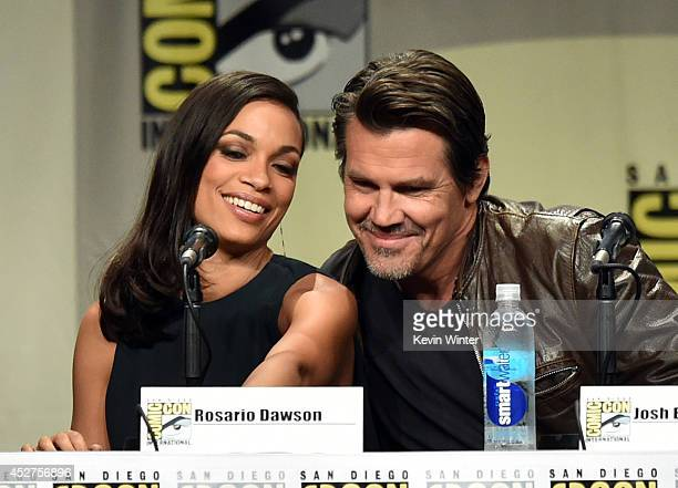Actors Rosario Dawson and Josh Brolin attend 'Frank Miller's Sin City A Dame To Kill For' panel during ComicCon International 2014 at San Diego...