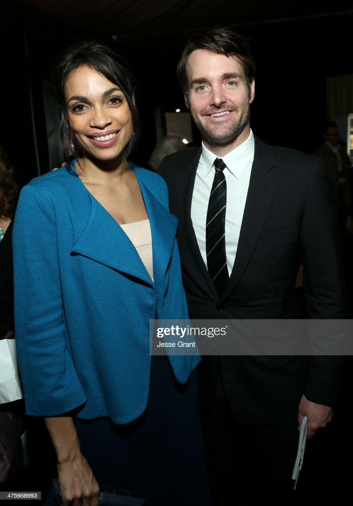 Actors <a gi-track='captionPersonalityLinkClicked' href=/galleries/search?phrase=Rosario+Dawson&family=editorial&specificpeople=201472 ng-click='$event.stopPropagation()'>Rosario Dawson</a> (L) and <a gi-track='captionPersonalityLinkClicked' href=/galleries/search?phrase=Will+Forte&family=editorial&specificpeople=2155213 ng-click='$event.stopPropagation()'>Will Forte</a> attend the On3 Official Presenter Gift Lounge during the 2014 Film Independent Spirit Awards at Santa Monica Beach on March 1, 2014 in Santa Monica, California.