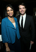 Actors Rosario Dawson and Will Forte attend the On3 Official Presenter Gift Lounge during the 2014 Film Independent Spirit Awards at Santa Monica...
