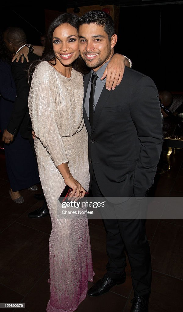 Actors Rosario Dawson and Wilmer Valderrama attend the Voto Latino 'Welcome To 1600 Part II' Inaugural Gala at Josephine on January 21, 2013 in Washington, DC.