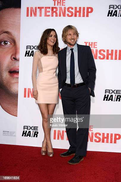 Actors Rose Byrne and Owen Wilson arrive at the premiere of Twentieth Century Fox's 'The Internship' at Regency Village Theatre on May 29 2013 in...