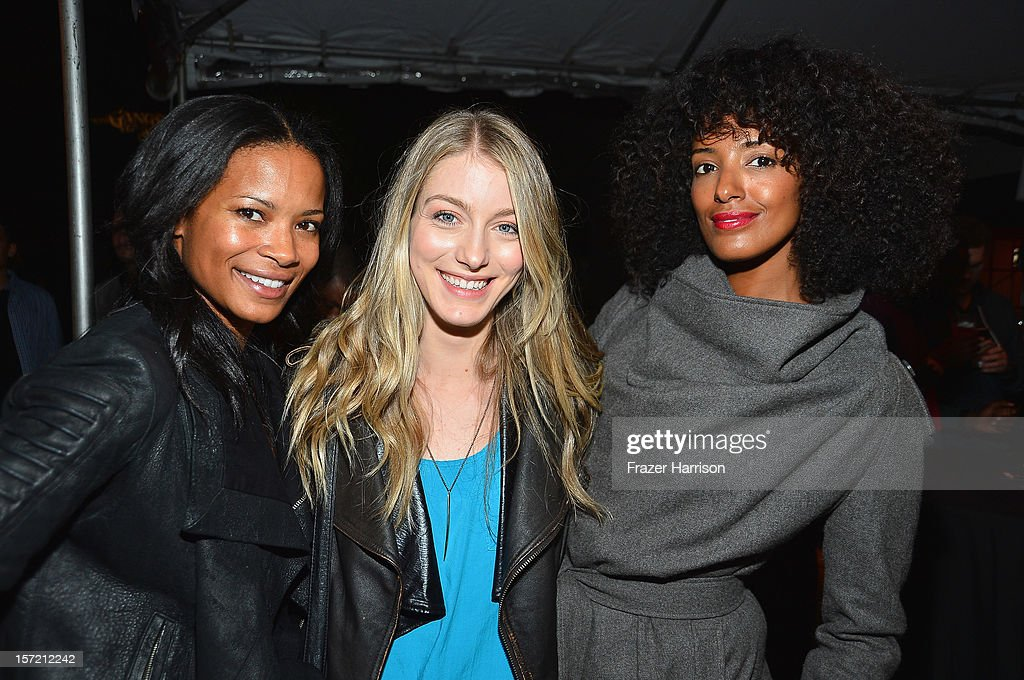 Actors Rose Rollins, Laura Seay, Ella Thomas attend SA Studios and Mister Cartoon VIP Screening and After Party of Warner Brothers Pictures 'Gangster Squad' at La Live Regal Cinemas on November 29, 2012 in Los Angeles, California.