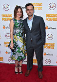 Actors Rosemarie DeWitt and Jake Johnson attend the premiere of 'Digging for Fire' at The ArcLight Cinemas on August 13 2015 in Hollywood California
