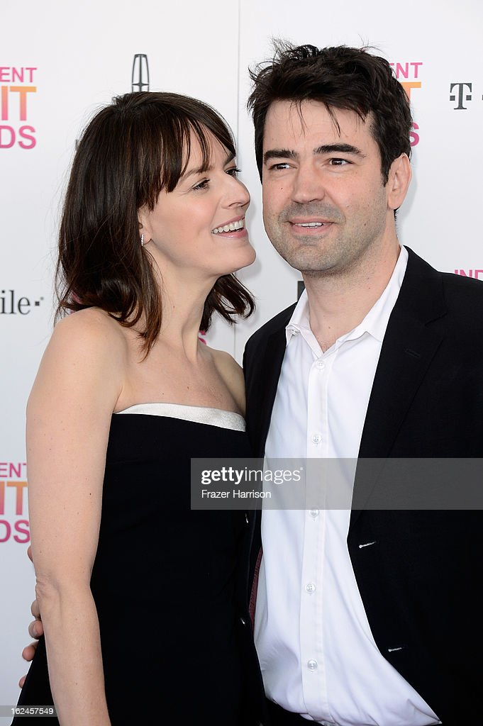 Actors Rosemarie DeWitt and Ron Livingston attend the 2013 Film Independent Spirit Awards at Santa Monica Beach on February 23, 2013 in Santa Monica, California.