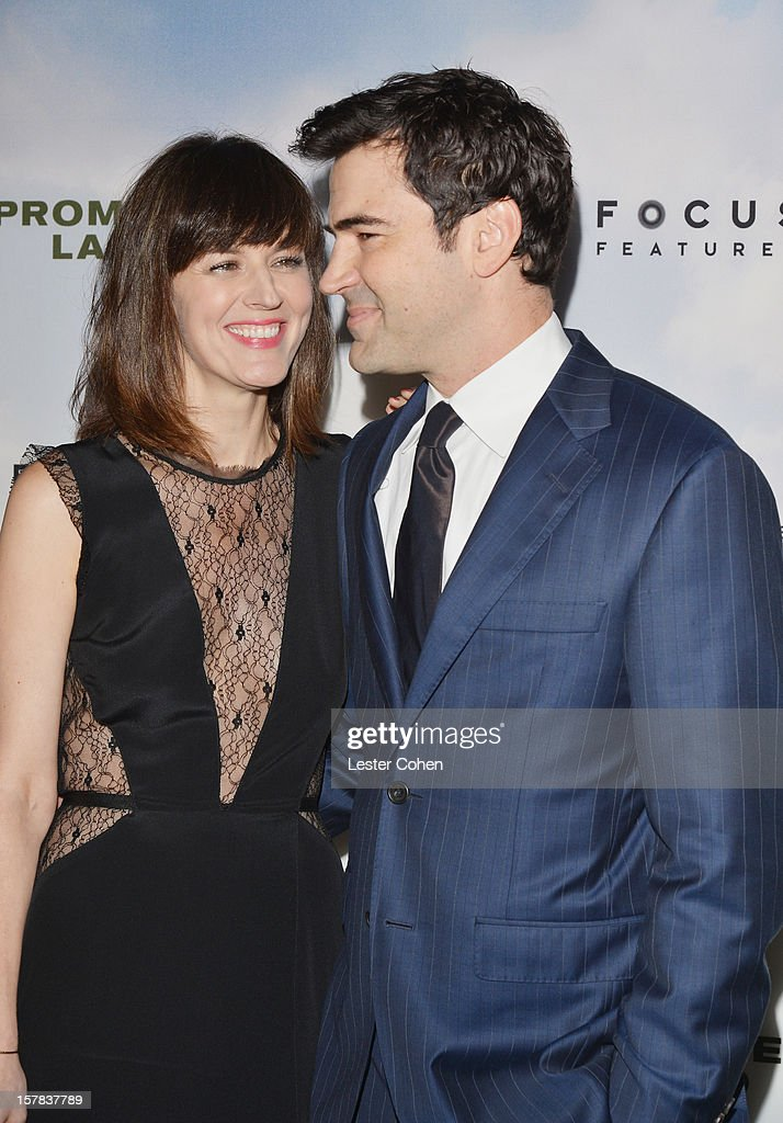 Actors Rosemarie DeWitt (L) and Ron Livingston attend the ''Promised Land' Los Angeles premiere at Directors Guild Of America on December 6, 2012 in Los Angeles, California.