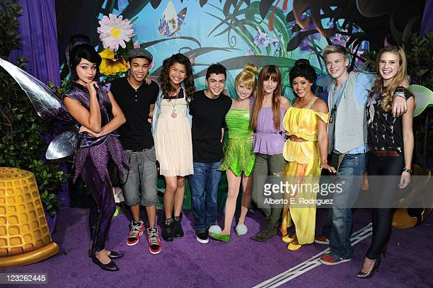 Actors Roshon Fegan Zendaya Coleman Adam Irigoyen Tinker Bell Bella Thorne Kenton Duty and Caroline Sunshine with the Fairies attend Picnic In The...