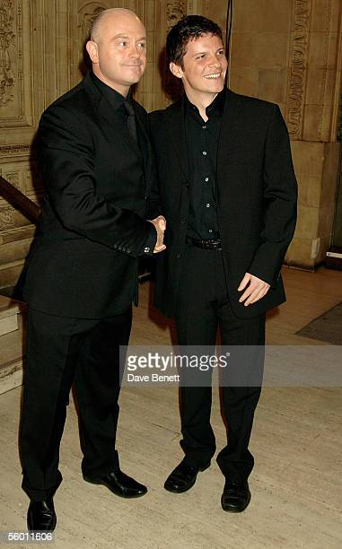 Actors Ross Kemp and Nigel Harman arrive at the National Television Awards 2005 at the Royal Albert Hall on October 25 2005 in London England