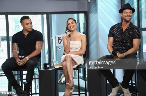 Actors Rotimi Akinosho Lela Loren and JR Ramirez attend Build to discuss 'Power'at Build Studio on July 12 2017 in New York City