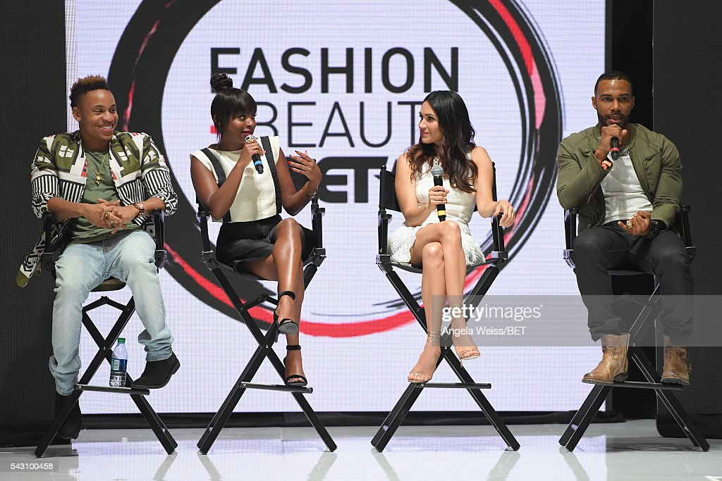 Actors <a gi-track='captionPersonalityLinkClicked' href=/galleries/search?phrase=Rotimi&family=editorial&specificpeople=4249959 ng-click='$event.stopPropagation()'>Rotimi</a> Akinosho, <a gi-track='captionPersonalityLinkClicked' href=/galleries/search?phrase=Naturi+Naughton&family=editorial&specificpeople=2559512 ng-click='$event.stopPropagation()'>Naturi Naughton</a>, <a gi-track='captionPersonalityLinkClicked' href=/galleries/search?phrase=Lela+Loren&family=editorial&specificpeople=4697443 ng-click='$event.stopPropagation()'>Lela Loren</a> and <a gi-track='captionPersonalityLinkClicked' href=/galleries/search?phrase=Omari+Hardwick&family=editorial&specificpeople=4342711 ng-click='$event.stopPropagation()'>Omari Hardwick</a> attend the Fashion & Beauty TOAST TO SUCCESS PANEL & Meet and Greet presented by Korbel during the 2016 BET Experience on June 25, 2016 in Los Angeles, California.