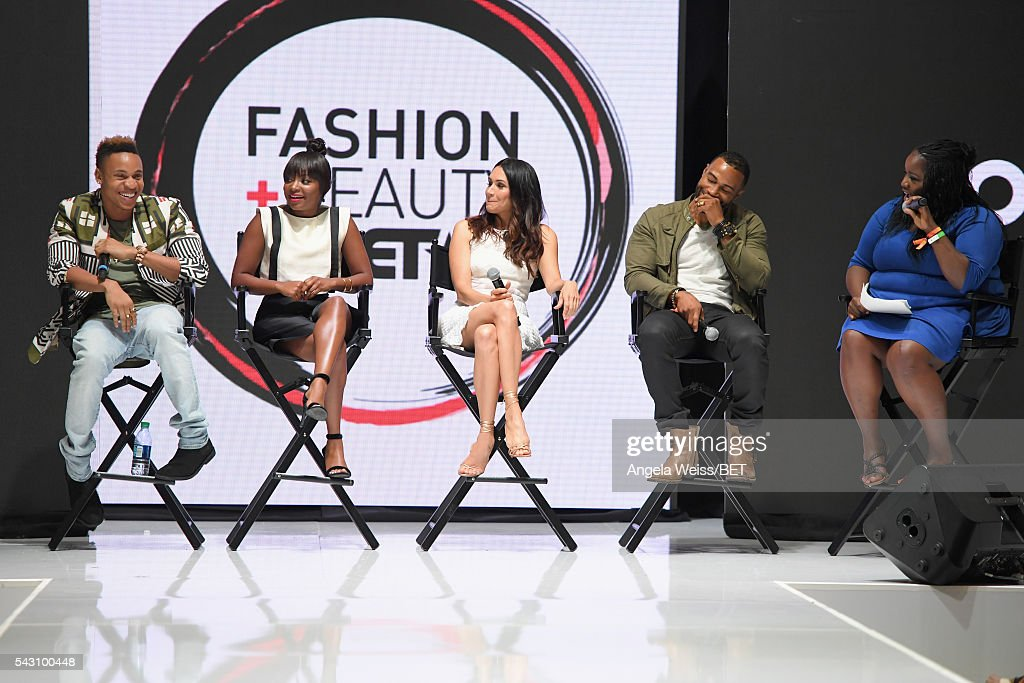 Actors <a gi-track='captionPersonalityLinkClicked' href=/galleries/search?phrase=Rotimi&family=editorial&specificpeople=4249959 ng-click='$event.stopPropagation()'>Rotimi</a> Akinosho, <a gi-track='captionPersonalityLinkClicked' href=/galleries/search?phrase=Naturi+Naughton&family=editorial&specificpeople=2559512 ng-click='$event.stopPropagation()'>Naturi Naughton</a>, <a gi-track='captionPersonalityLinkClicked' href=/galleries/search?phrase=Lela+Loren&family=editorial&specificpeople=4697443 ng-click='$event.stopPropagation()'>Lela Loren</a>, <a gi-track='captionPersonalityLinkClicked' href=/galleries/search?phrase=Omari+Hardwick&family=editorial&specificpeople=4342711 ng-click='$event.stopPropagation()'>Omari Hardwick</a> and Kelley L. Carter attend the Fashion & Beauty TOAST TO SUCCESS PANEL & Meet and Greet presented by Korbel during the 2016 BET Experience on June 25, 2016 in Los Angeles, California.
