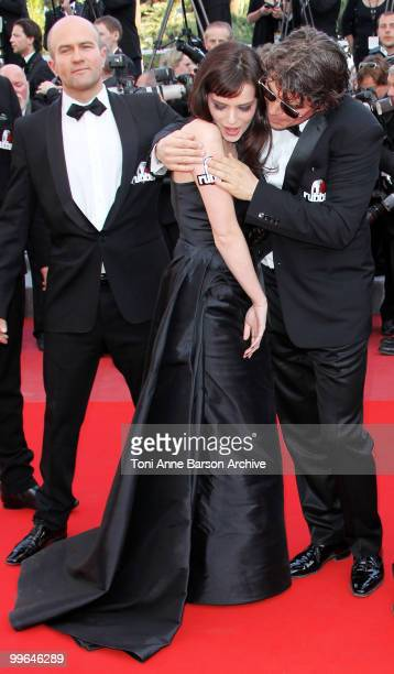 Actors Roxane Mesquida and Daniel Quinn attend the premiere of 'Biutiful' held at the Palais des Festivals during the 63rd Annual International...
