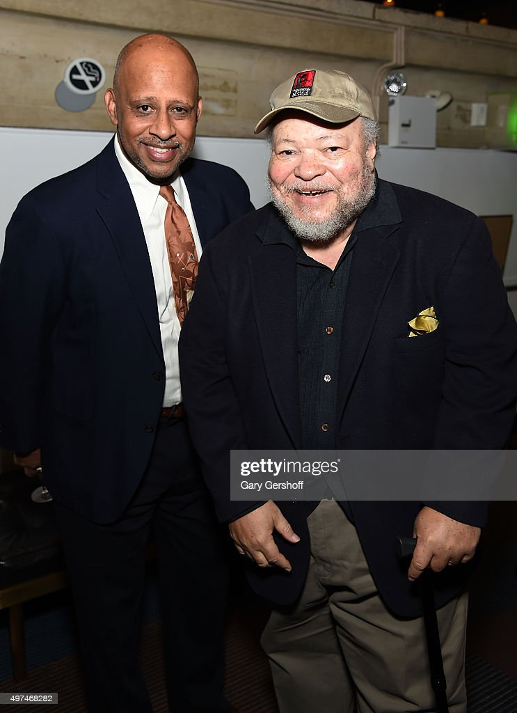 Actors Ruben SantiagoHudson and Stephen Henderson attend the 2015 Steinberg Playwright Awards on November 16 2015 in New York City